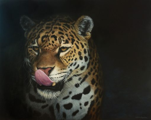 Jaguar painting by Kathrin Guenther