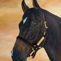 Scorpion stallion acrylic art painting Kathrin Guenther web file