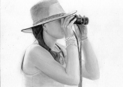 girl drawing graphite Kathrin Guenther web file